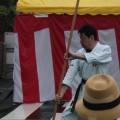 平成28年7月30日 たまプラーザ祭り 鮫島隆雄さん 周氏ぬ棍大