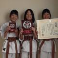 平成28年11月27日第6回全国空手道古武道選手権大会 兄弟姉妹型優勝 光本3姉妹