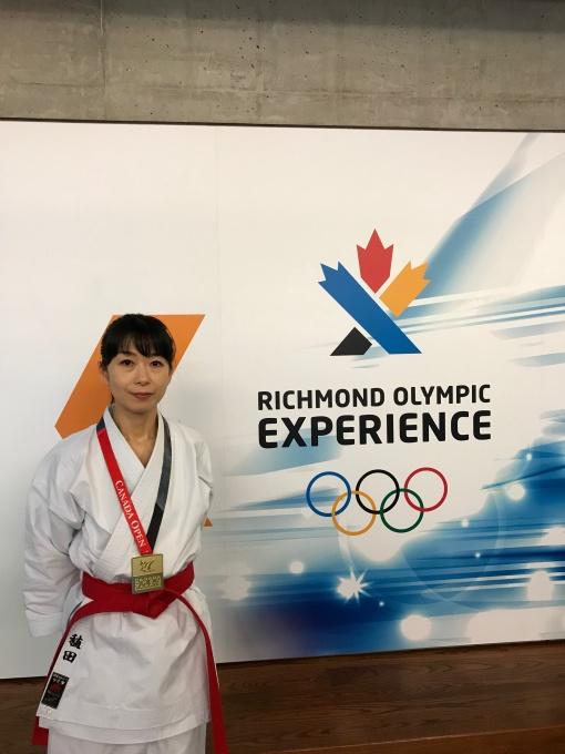 平成30年6月3日カナダオープン空手チャンピオンシップ マスターズ女子 型の部 優勝 稙田舞子さん
