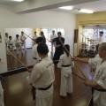 平成29年9月18日たまプラーザ道場にて空手講習会 杖練習