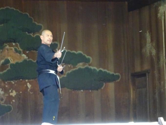 平成30年9月9日靖国神社古武術奉納演武会 永井師範代 北谷屋良のサイ